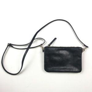 Banana Republic Womens Black Leather Purse C2503